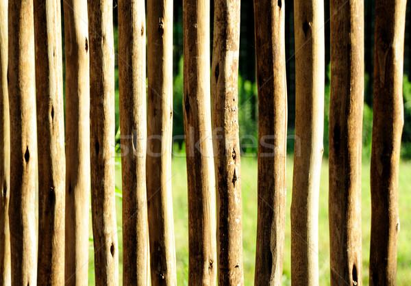 çit ahşap çiftlik kaba kesmek Stok fotoğraf © pdimages
