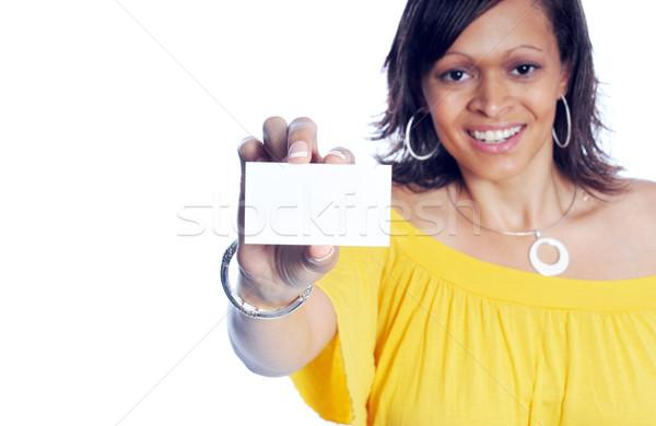 çekici iş kadını genç gündelik moda beyaz Stok fotoğraf © pdimages