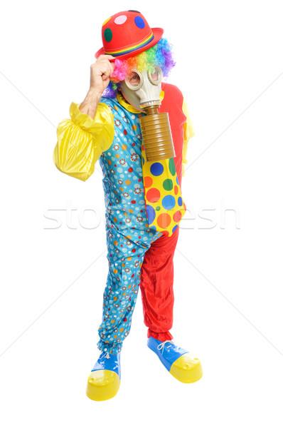 Maschera antigas uomo clown costume indossare modello Foto d'archivio © pdimages