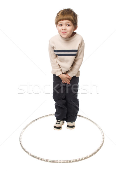 boy in a hoop Stock photo © pdimages