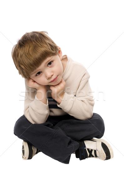 child on white background Stock photo © pdimages