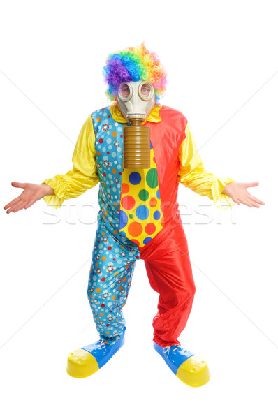 Some clownwearing a gas mask Stock photo © pdimages