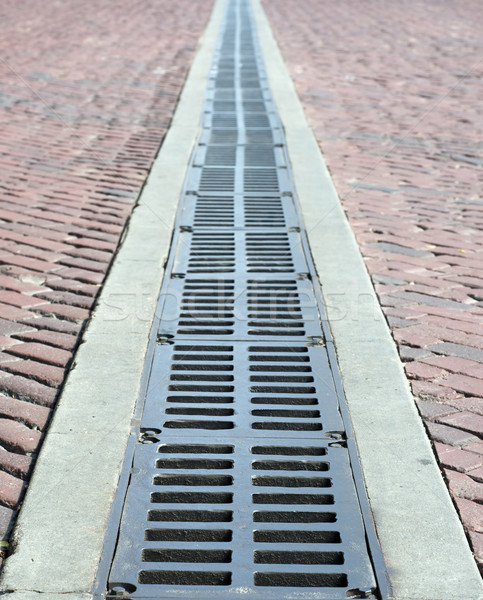 brick road and grate Stock photo © pdimages
