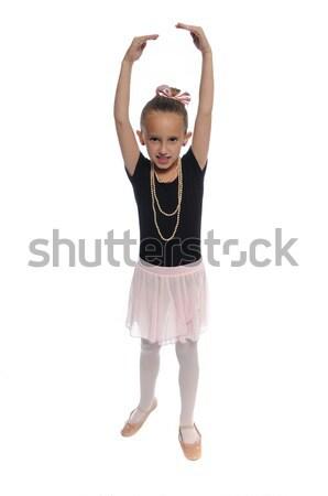 dance girl on white Stock photo © pdimages