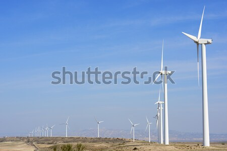 Wiatr energii grupy elektryczne moc produkcji Zdjęcia stock © pedrosala
