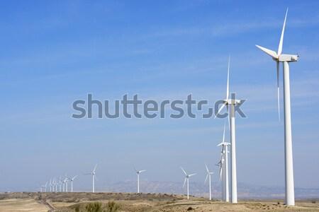 Viento energía grupo eléctrica poder producción Foto stock © pedrosala