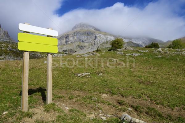 signboard Stock photo © pedrosala