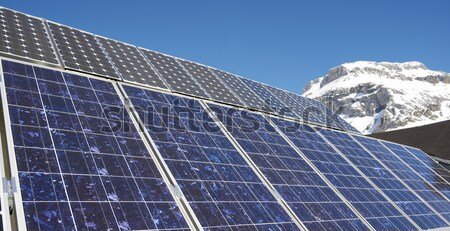 Fotovoltaik elektrik üretim park teknoloji dağ Stok fotoğraf © pedrosala