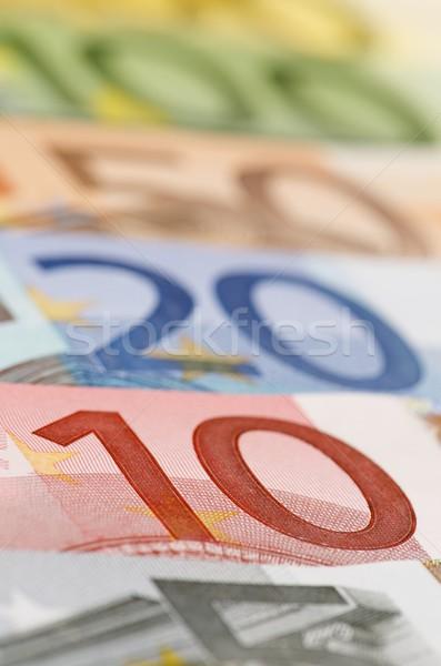 Eurók befejezés csoport európai bankjegyek papír Stock fotó © pedrosala