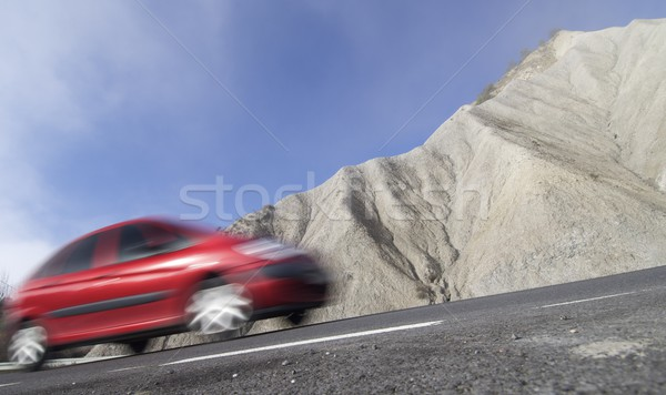 Red car on a road Stock photo © pedrosala