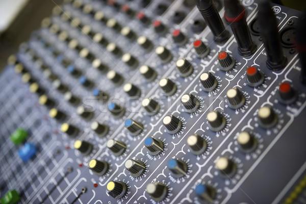 Foto stock: Mezclador · panel · gestión · música · tecnología