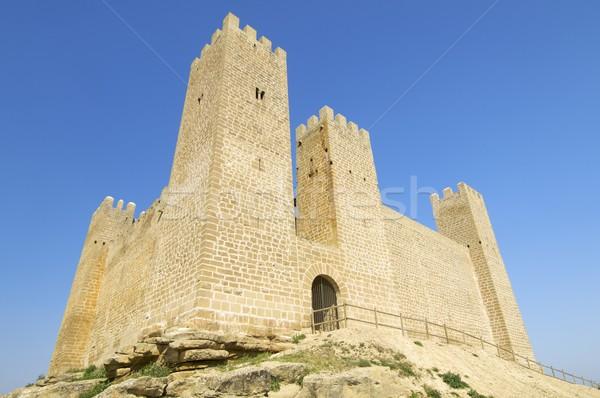 Au-dessous château village Espagne ciel bâtiment Photo stock © pedrosala