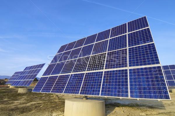 太陽エネルギー ソーラーパネル 電気 エネルギー 生産 技術 ストックフォト © pedrosala