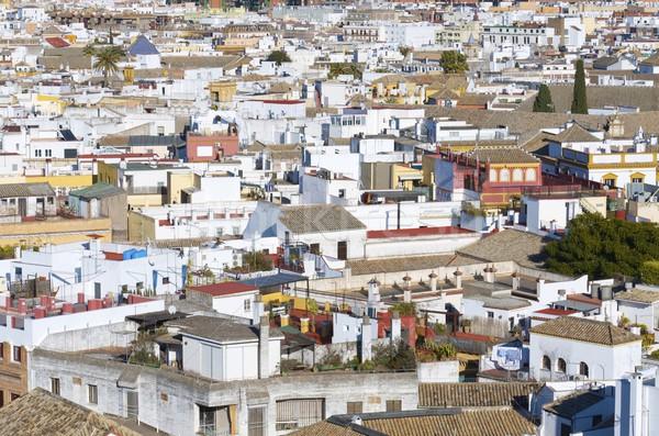 Kilátás tetők óváros Andalúzia Spanyolország épületek Stock fotó © pedrosala