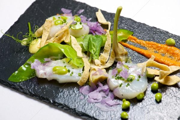 マリネ 務め 黒 魚 キッチン レストラン ストックフォト © pedrosala