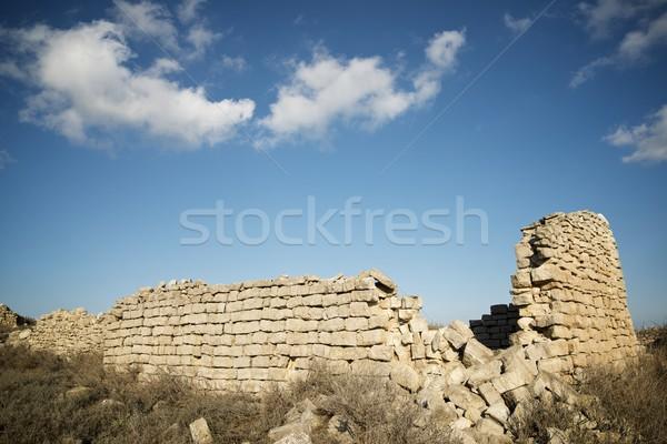 сельский здании разорение стены области время Сток-фото © pedrosala