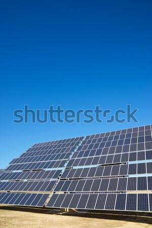Energia solar blue sky branco nuvem Foto stock © pedrosala