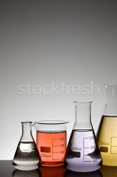 четыре лаборатория жидкость белый стекла Сток-фото © pedrosala