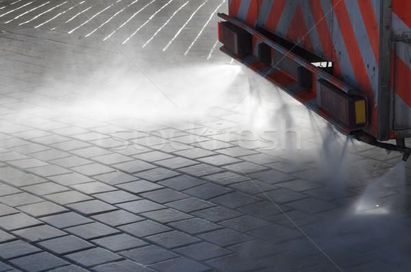 Cleaner città primo piano pulizia macchina acqua Foto d'archivio © pedrosala