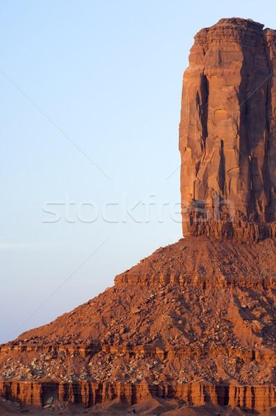 Taş kule vadi Utah ABD gökyüzü Stok fotoğraf © pedrosala