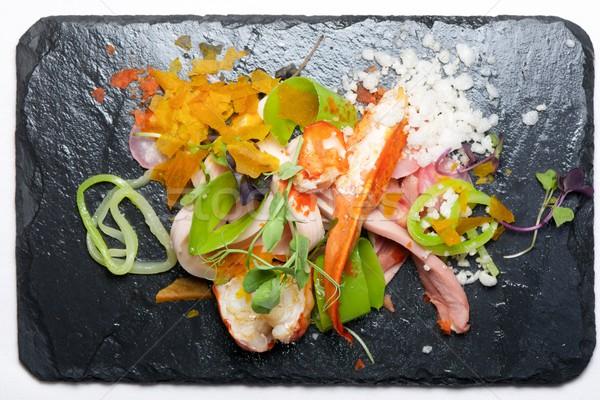 Csirkesaláta homár étel konyha étterem tyúk Stock fotó © pedrosala