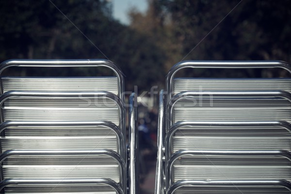 Metal chairs stacked Stock photo © pedrosala