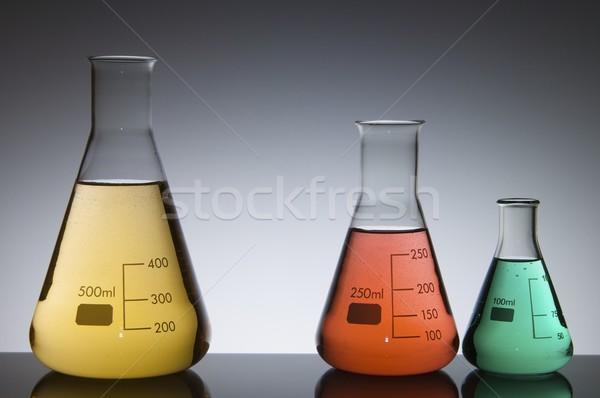 three conical flasks Stock photo © pedrosala