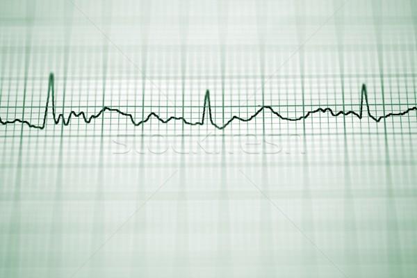 électrocardiogramme papier forme coeur corps Photo stock © pedrosala