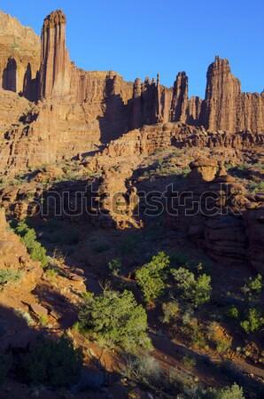 漁師 塔 風景 砂漠 ユタ州 ストックフォト © pedrosala