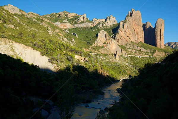 Riglos Mountains in Spain Stock photo © pedrosala