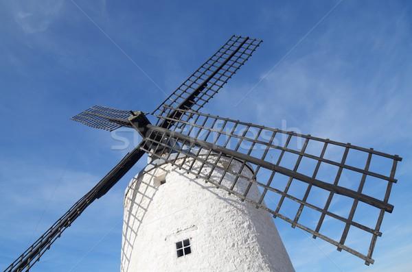 традиционный Windmill древесины синий фермы Сток-фото © pedrosala