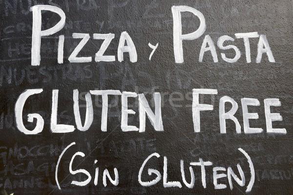 Gluten voorgrond poster glutenvrij menu typisch Stockfoto © pedrosala