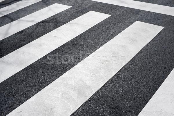 Zebra út utca kereszt autópálya forgalom Stock fotó © pedrosala