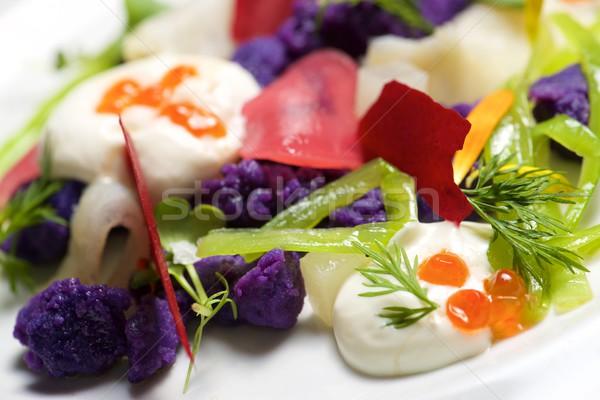 Russo insalata bianco piatto alimentare Foto d'archivio © pedrosala