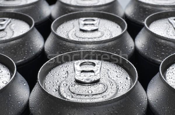 üdítő csoport alumínium konzerv háttér ital Stock fotó © pedrosala