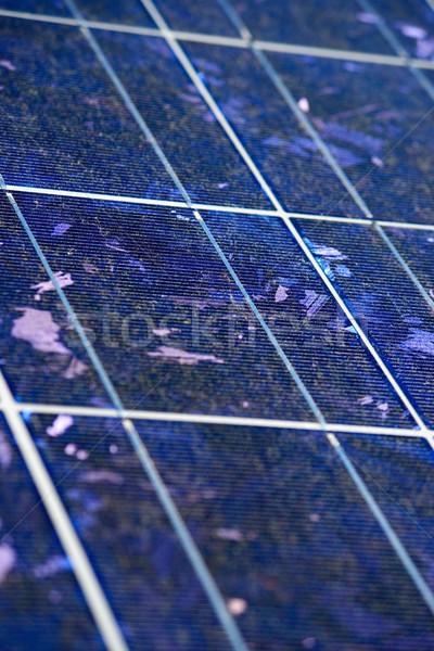 太陽エネルギー 詳細 太陽光発電 パネル 再生可能な 電気 ストックフォト © pedrosala