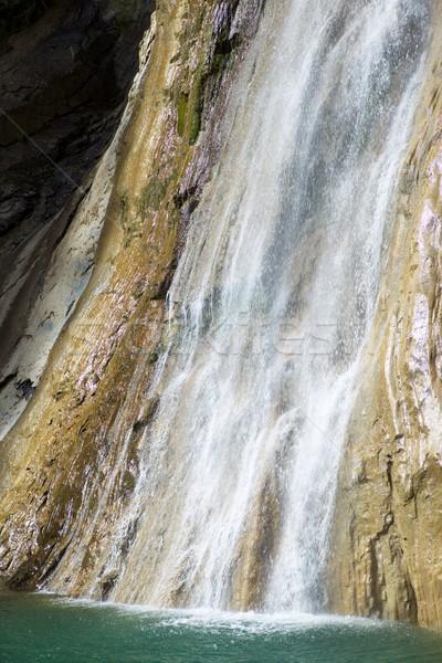Wodospad rock prędkości rzeki spadek czyste Zdjęcia stock © pedrosala