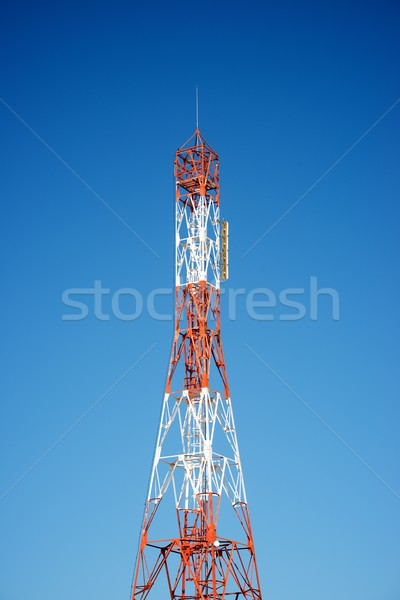 Telecommunications tower view Stock photo © pedrosala