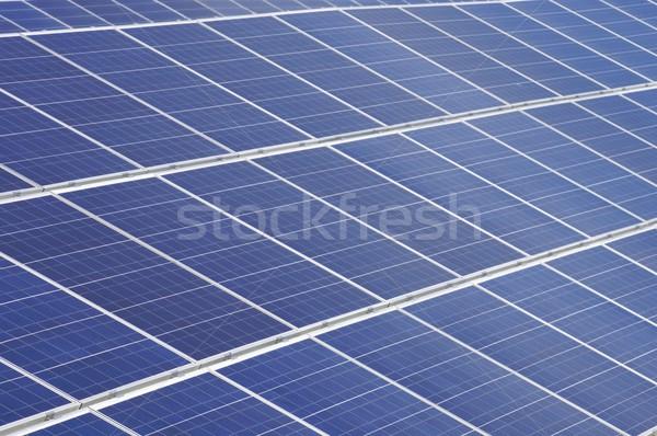 Fotovoltaica painel pormenor eletricidade produção tecnologia Foto stock © pedrosala