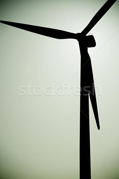Wind energie windmolen elektrische macht productie Stockfoto © pedrosala
