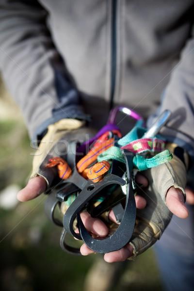 Climbing equipment view Stock photo © pedrosala