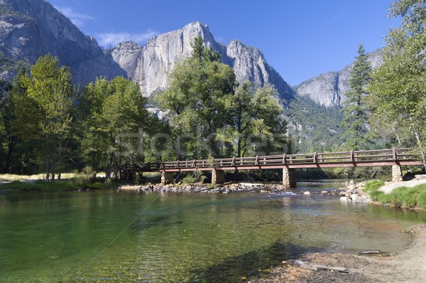 Yosemite legno ponte yosemite national park California USA Foto d'archivio © pedrosala