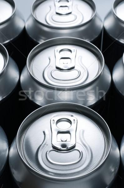 Soda grup alüminyum can Metal içmek Stok fotoğraf © pedrosala