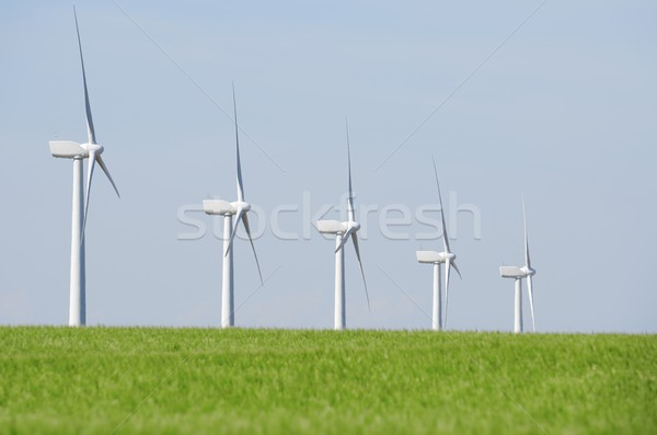 Stock photo: windmills