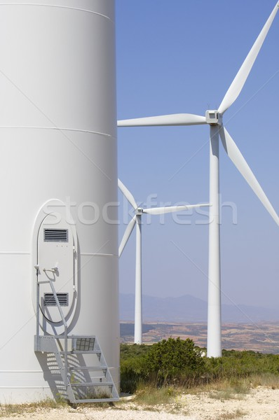 átjáró modern szélmalom megújuló energia gyártás zöld Stock fotó © pedrosala