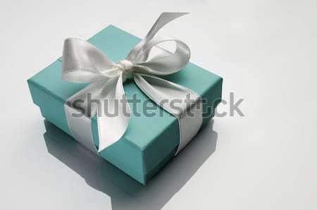 Luxe geschenk klein turkoois vak witte Stockfoto © pedrosala