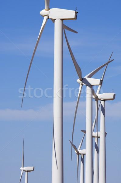Groupe modernes électriques pouvoir production ferme Photo stock © pedrosala