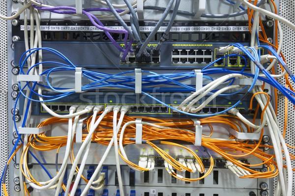 ön plan ağ kablolar bilgisayar Stok fotoğraf © pedrosala