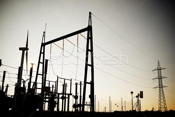 электрические технологий металл сеть промышленности Сток-фото © pedrosala