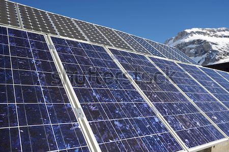 Fotovoltaik elektrik üretim dağ vadi teknoloji Stok fotoğraf © pedrosala